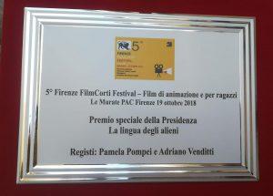 Premio 5° FilmCorti Festival