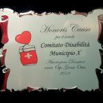 Premio per il sociale ricevuto dall'Associazione Donatori amici Ospedale Grassi di Ostia