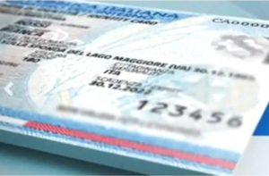 carta identità fac-simile